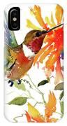 Hummingbird And Orange Flowers IPhone Case
