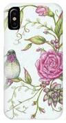 Hummingbird And Rose IPhone Case