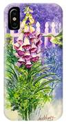 Hummingbird In Foxgloves  IPhone Case