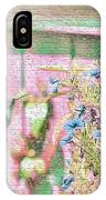 Hummingbird In The Garden IPhone Case