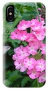 Hummingbird Moth On Pink Verbena IPhone Case