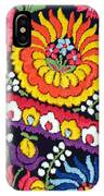 Hungarian Matyo Szentgyorgy Folk Embroidery Photographic Print IPhone Case