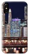 Hustle And Bustle Night Lights In Chicago IPhone Case