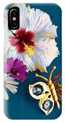 Hybiscus And Butterfly IPhone Case