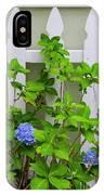 Hydrangea Blooming In October IPhone Case