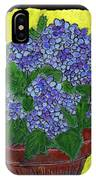Hydrangea In A Pot IPhone Case
