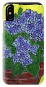Hydrangea In A Pot IPhone Case