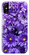Hydrangeas And Daisies So Purple IPhone Case