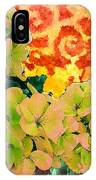 Hydrangeas And Swirls IPhone Case