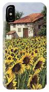 I Girasoli Nel Campo IPhone Case
