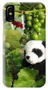 I Love Grapes Says The Panda IPhone Case