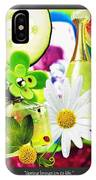 I Love Spring_with Border IPhone Case