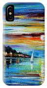I Saw A Dream - Palette Knife Oil Painting On Canvas By Leonid Afremov IPhone Case