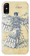 Icarus Human Flight Patent Artwork - Vintage IPhone Case