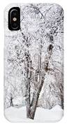 Ice Covered Trees One Painted IPhone Case