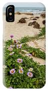 Ice Plant Booms On Pebble Beach IPhone Case