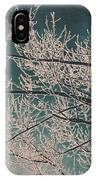 Ice Storm Branches - Blue IPhone Case