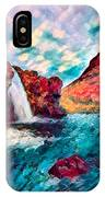 Iceland Waterfalls IPhone Case