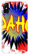 Idaho Comic Exclamation IPhone Case