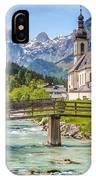 Idyllic Church In The Alps IPhone Case