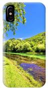 Idyllic Krka River In Knin Landscape IPhone Case