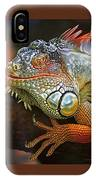 Iguana Full Of Color IPhone Case