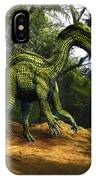 Iguanodon In The Jungle IPhone Case