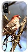 Img_0001 - House Finch IPhone Case