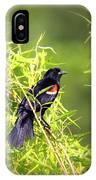 Img_0841-003 - Red-winged Blackbird IPhone Case