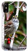 Img_6624-002 - White-throated Sparrow IPhone Case