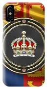 Imperial Tudor Crown Over Royal Standard Of The United Kingdom IPhone Case