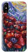 Impressionist Field Poppies IPhone Case
