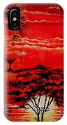 In An Arfican Sunset IPhone Case