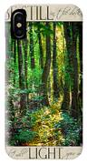 In The Forest With Words IPhone Case