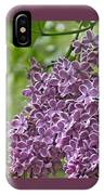 In The Garden. Lilac IPhone Case