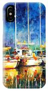 In The Port - Palette Knife Oil Painting On Canvas By Leonid Afremov IPhone Case