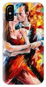 In The Rhythm Of Tango 2 - Palette Knife Oil Painting On Canvas By Leonid Afremov IPhone Case