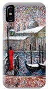 In The Snow In Venice IPhone Case