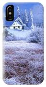In The Snowy Forest IPhone Case