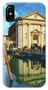 In The Waters Of The Many Venetian Canals Reflected The Majestic Cathedrals, Towers And Bridges IPhone Case