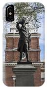 Independence Hall And Commodore Barry IPhone Case