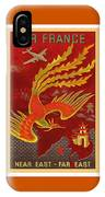 India, China And Japan, The Bird Of Paradise Countries - Air France Vintage Airline Travel Poster IPhone Case