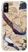 India: Peafowl, C1610 IPhone Case