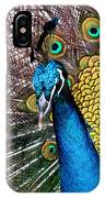 Indian Blue Peacock IPhone Case