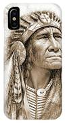 Indian Chief With Headdress IPhone Case