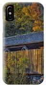 Indian Creek Covered Bridge In Fall IPhone Case