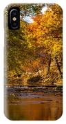 Indian Creek In Fall Color IPhone Case