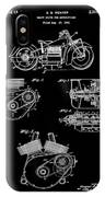 Indian Motorcycle Patent 1943 Black IPhone Case