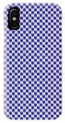 Indigo And White Star Of David- Art By Linda Woods IPhone Case