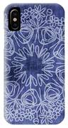 Indigo Mandala 1- Art By Linda Woods IPhone Case